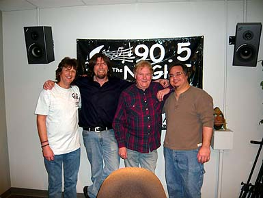 Ian & Dave at the Radio Station in NJ